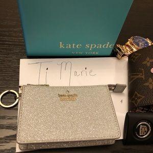 Kate spade glitter key  pouch